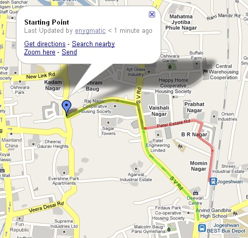 Routes to Jogeshwari
