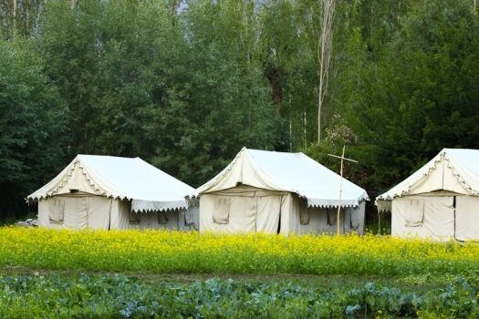 Tents at Sumur