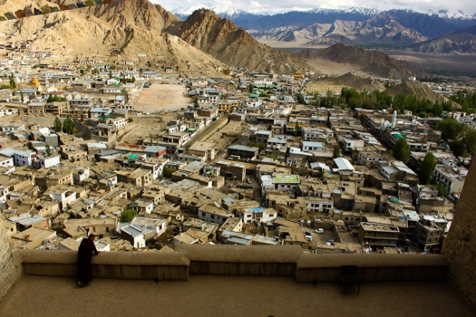 A view of Leh city from the Palace