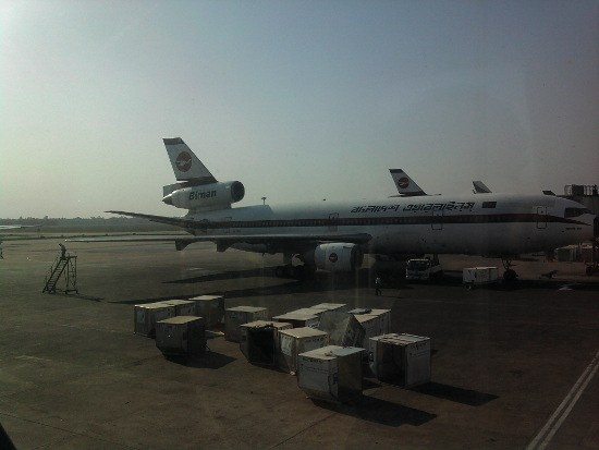 Airplanes at Dhaka Airport