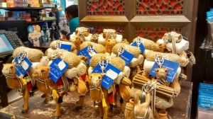 Toy Camels at the Dubai Airport